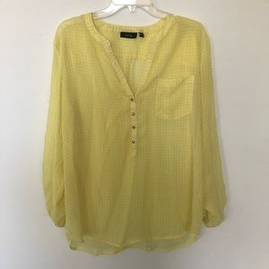 Apt 9 Yellow Blouse